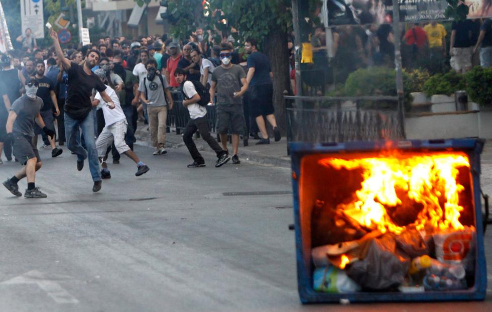 Manifestaciones contra el ataque israelí  - Atenas