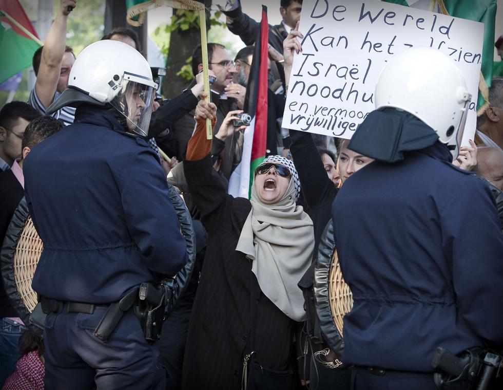 Manifestaciones contra el ataque israelí  - La Haya