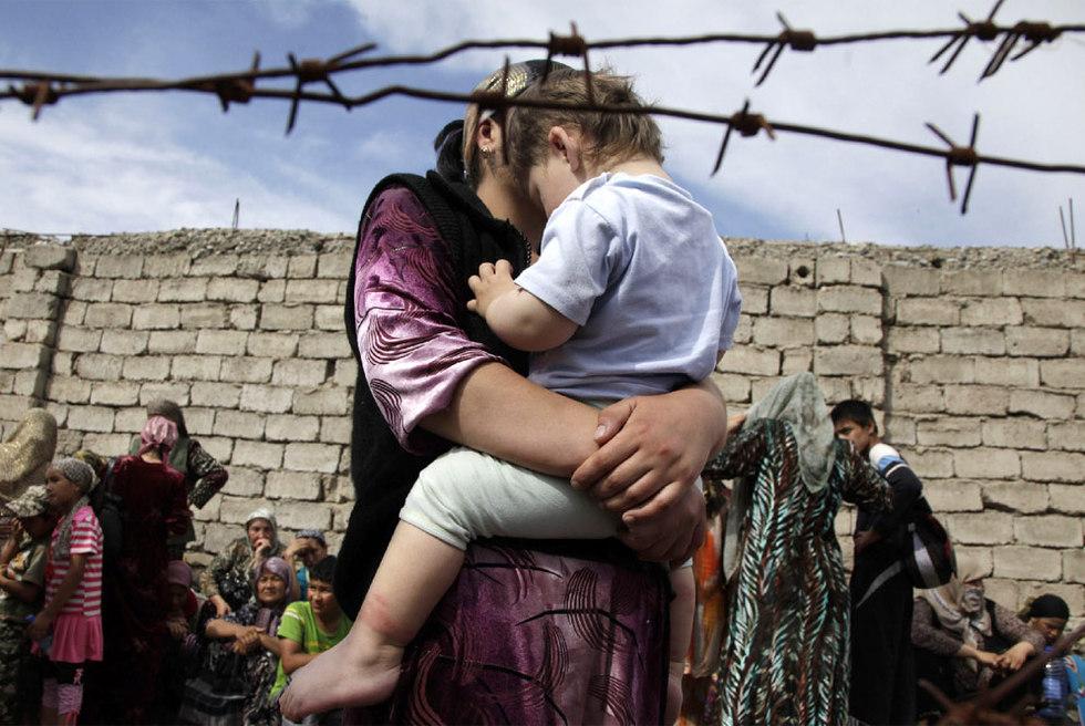 Refugiados uzbekos en la frontera de Kirguizistán