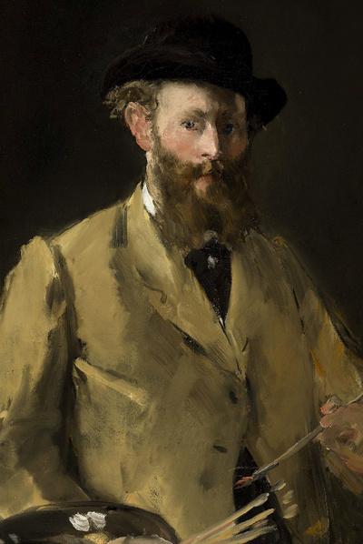 Autorretrato con paleta, de Edouard Manet