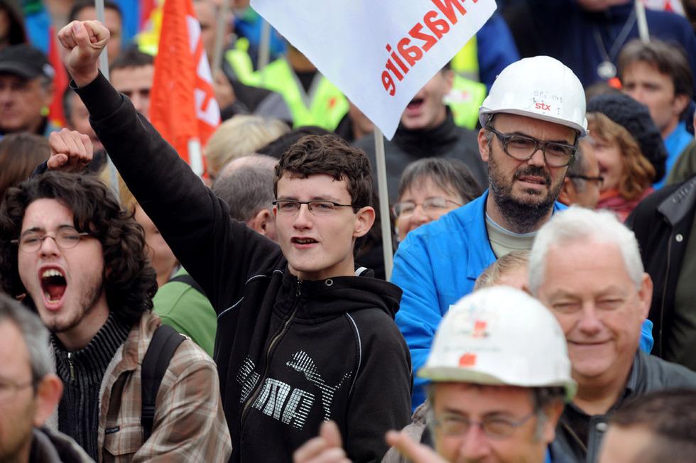 Las protestas de los estudiantes franceses - Unidos en la lucha