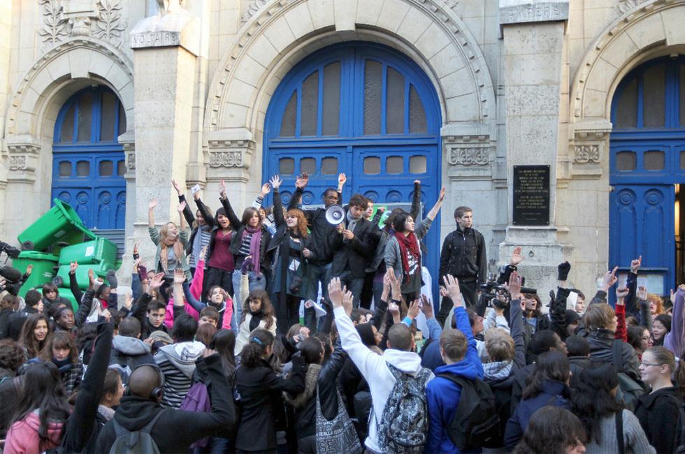 Las protestas de los estudiantes franceses - A lo largo de Francia