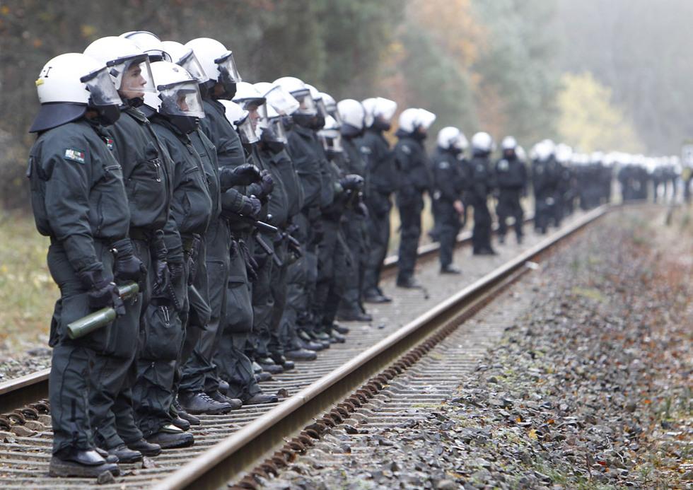 La policía toman posiciones