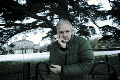 Julian Assange, en la finca de Bungay donde se hospeda.- BERNARDO PÉREZ