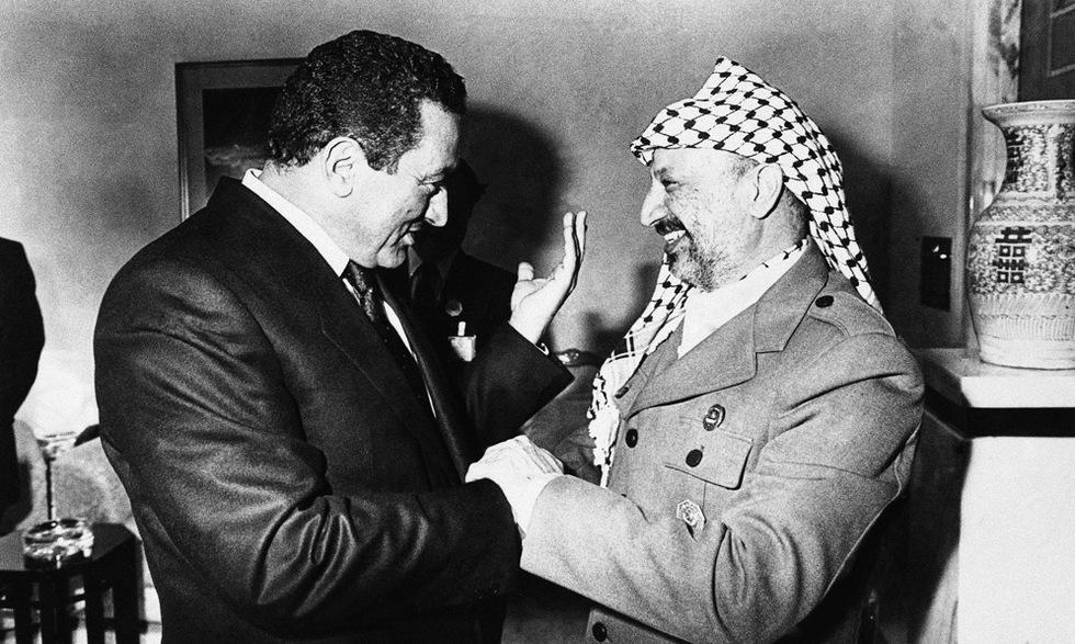 Las tres décadas de Mubarak en el poder  - Mubarak y Arafat