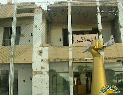 Palacio en ruinas de Trípoli desde el que se ha dirigo Gadafi a la nación