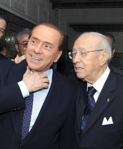 Berlusconi en Túnez