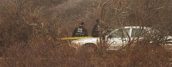 Agentes de policía neoyorquinos, en la escena del crimen