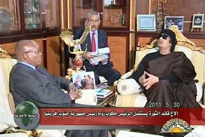 Aparición de Gadafi