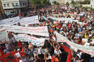 Manifestaciones a favor de la nueva Constitución en Marruecos