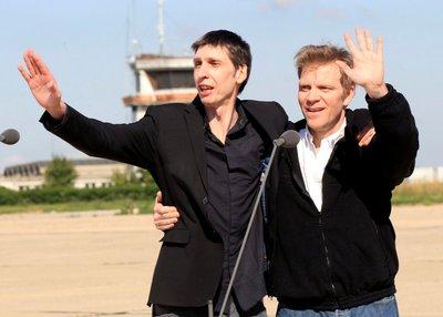 Stéphane Taponier y Hervé Ghesquière, periodistas franceses liberados ayer