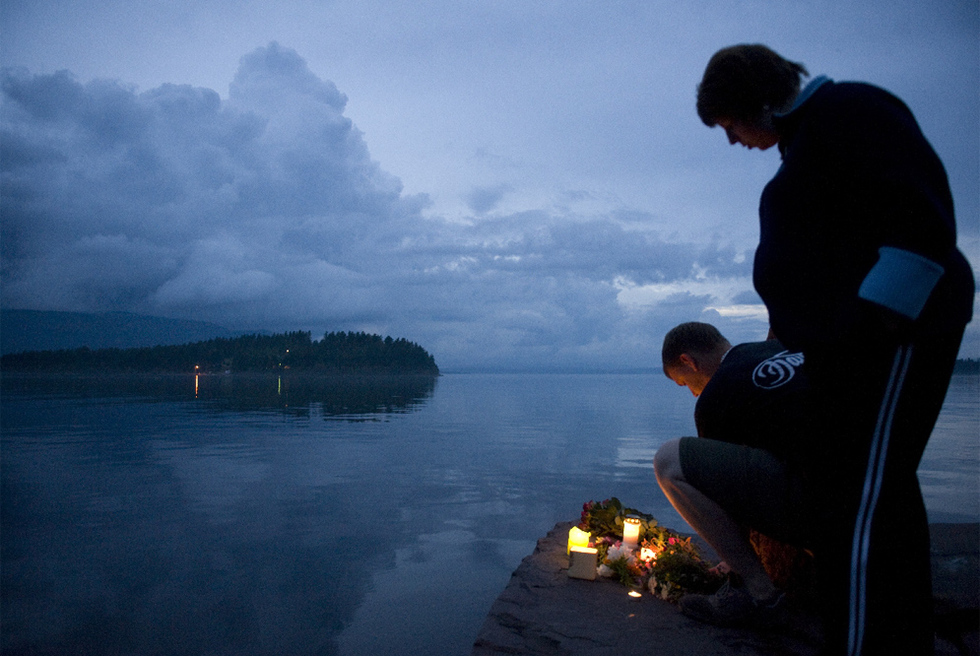 Doble atentado en Noruega - Homenaje a las víctimas