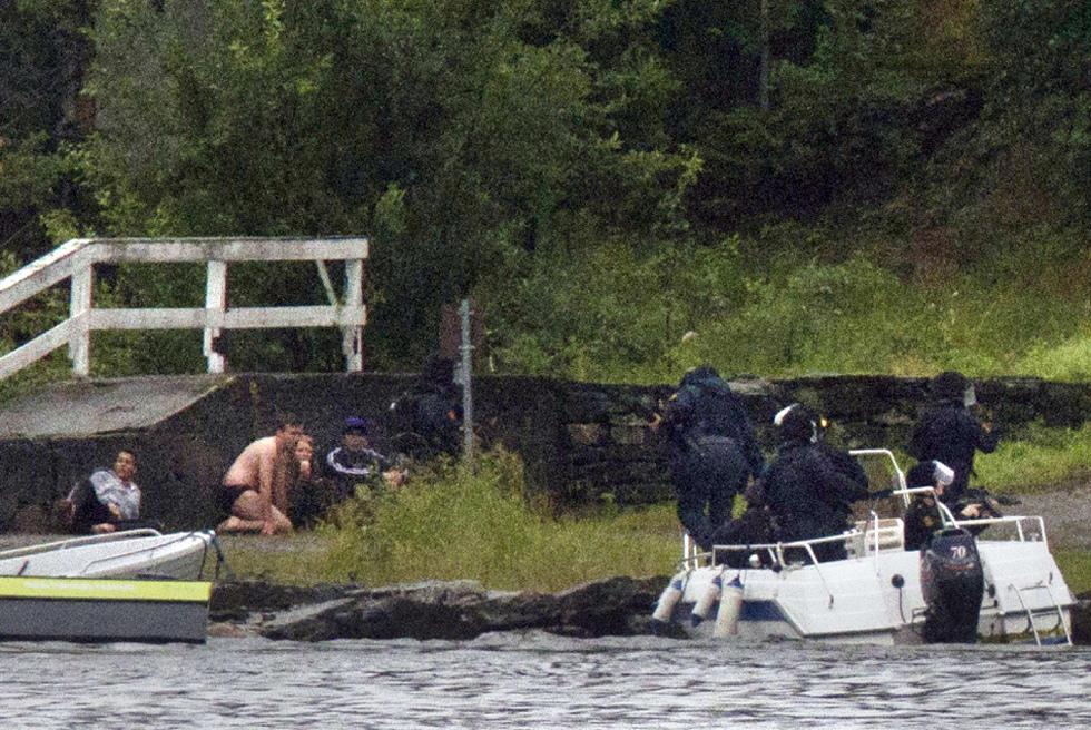 Doble atentado en Noruega  - Intervención policial
