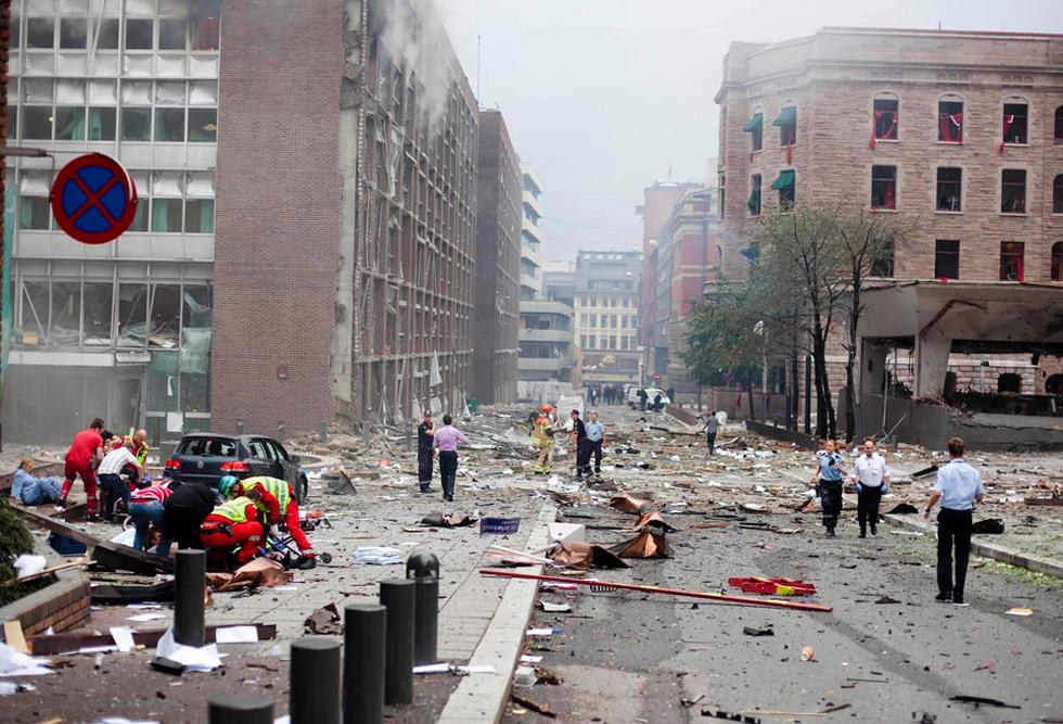 Atentado en Noruega perpetrado por un ciudadano afín a la ultraderecha Centro_Oslo_atentado
