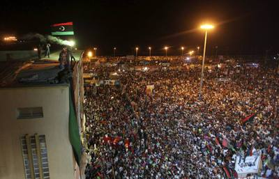 celebración en Bengasi