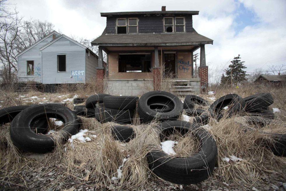 La decadencia de Detroit en imagenes