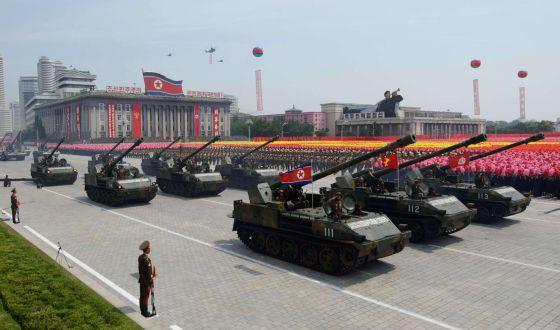 Resultado de imagen para desfile militar en Pyongyang