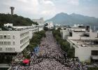 Huelga universitaria en Hong Kong a favor de más democracia