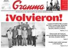 ¡Volvieron!, titula el 'Granma' de Cuba la histórica primera página