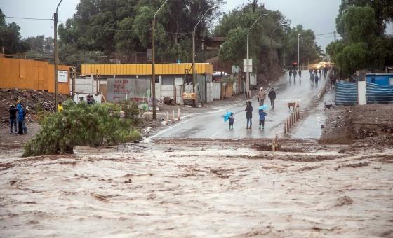 Un temporal en Chile deja dos muertos y 24 desaparecidos