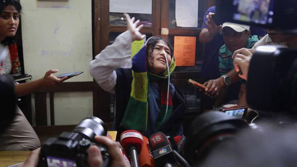 Irom sharmila: la 'dama de hierro' india abandona su huelga de ...
