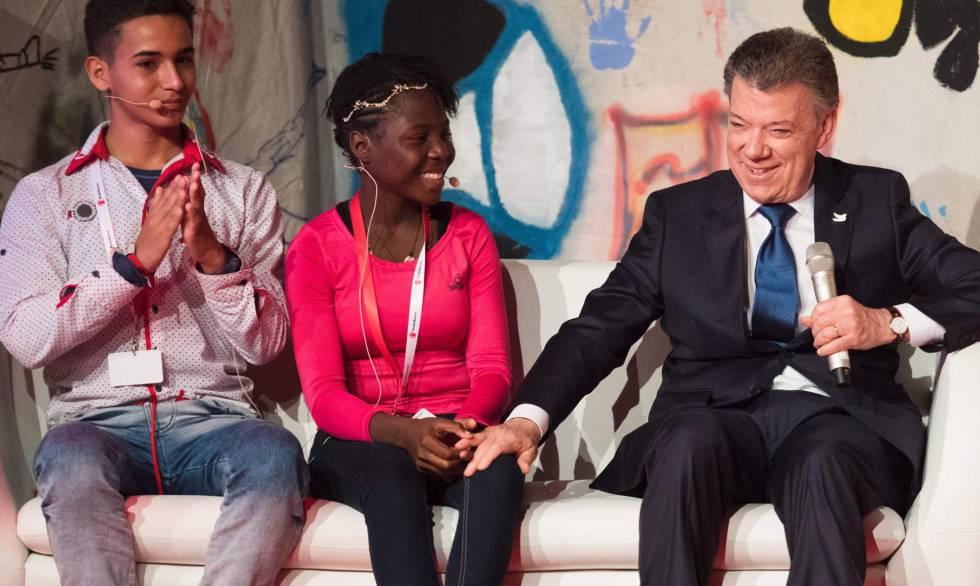 Santos recibe en Oslo el Nobel de la Paz