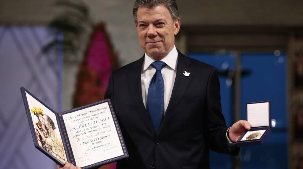 """Santos, tras recibir el Nobel de la Paz: """"Hay una guerra menos en el mundo y es la de Colombia"""""""