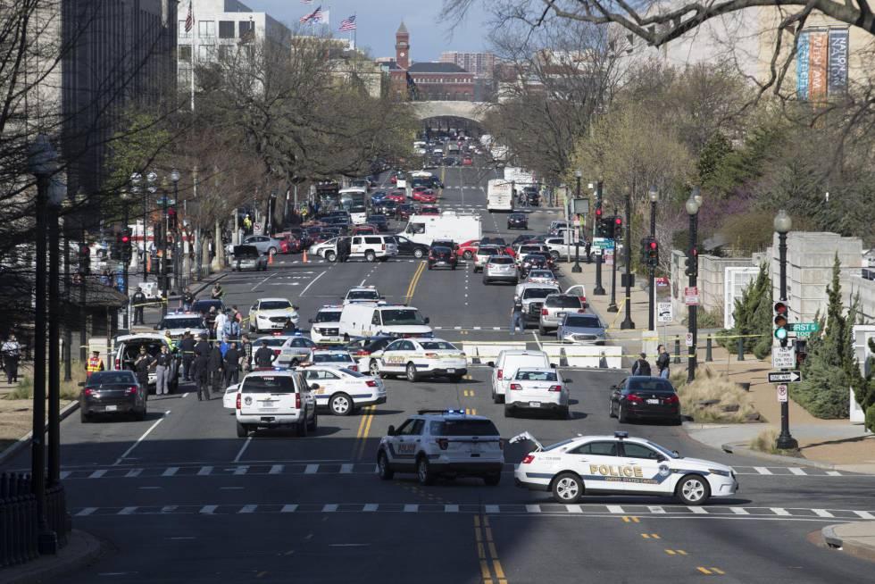 Tiros en las proximidades del Capitolio tras un intento de atropello a la policía