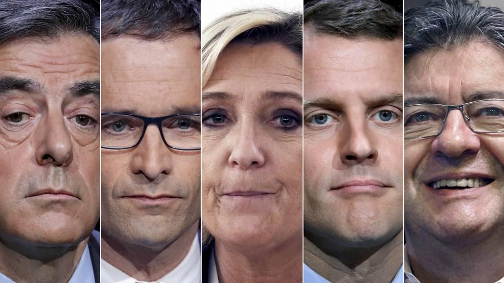Así son los cinco candidatos favoritos a las elecciones francesas