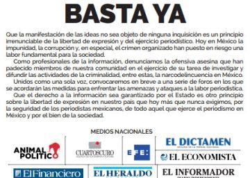 La prensa mexicana dice ?basta ya? a las agresiones contra periodistas