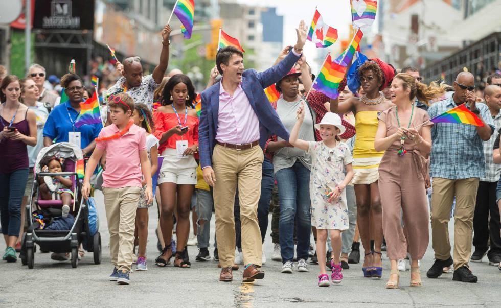 Los calcetines con mensaje de Justin Trudeau