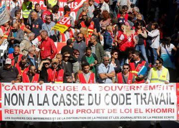 Macron afronta la primera protesta y huelga por su reforma laboral