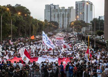 El fujimorismo solo reúne a 7.000 manifestantes a favor del indulto al expresidente