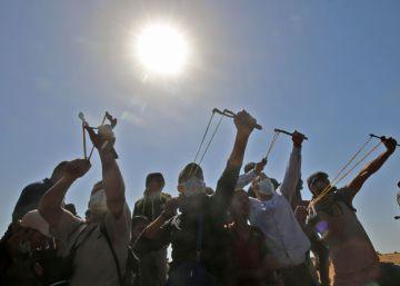 La primera línea de la desigual batalla de la frontera de Gaza