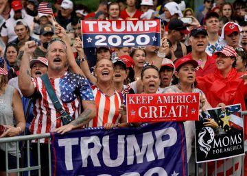 Trump llama a la unidad en un 4 de julio convertido en su festín patriótico