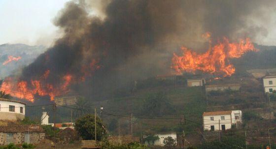 Resultado de imagen de incendio de la gomera