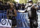 Cuatro detenidos en la marcha por resistencia a la autoridad