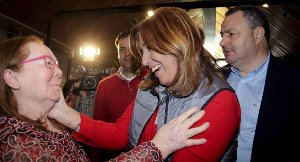 Díaz busca el apoyo del socialismo minero de León