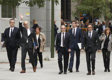 Los exconsejeros declararán al juez que renuncian a la vía unilateral