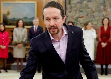 """Iglesias, al asumir la vicepresidencia: """"No dejéis de criticarnos, no dejéis de presionarnos"""""""