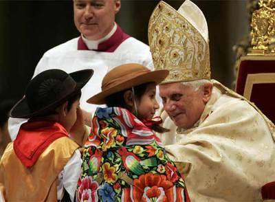 El papa pide el fin de todas las formas