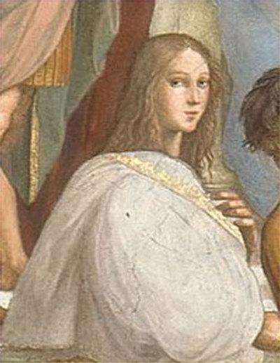 Detalle del retrato de Hypatia de Alejandría