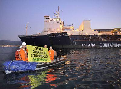 Protesta de Greenpeace contra la contaminación