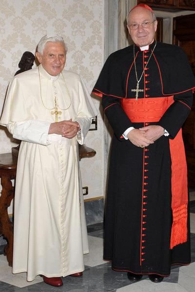 Llamada de atención de Benedicto XVI al cardenal Schoenborn