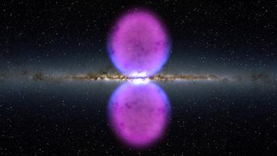 Dos burbujas gigantescas en el centro de la Vía Láctea