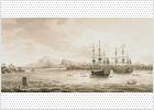 Lienzo que describe la expedición,en 1789, de las dos corbetas Descubierta y Atrevida, en su singladura de circunnavegación que lideró el marino Alejandro Malaspina y que duró cinco años.- JOHANSEN KRAUSE