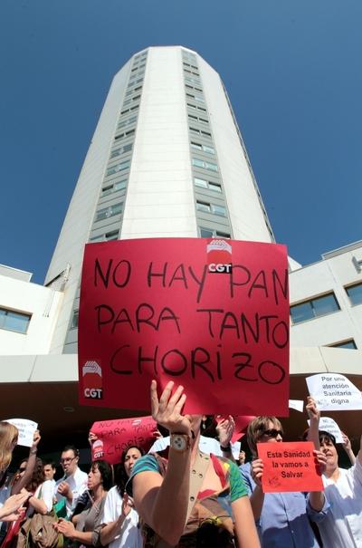 Protesta por los recortes en salud