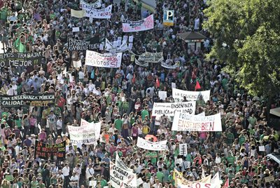 Manifestacion en Madrid Educación en Madrid
