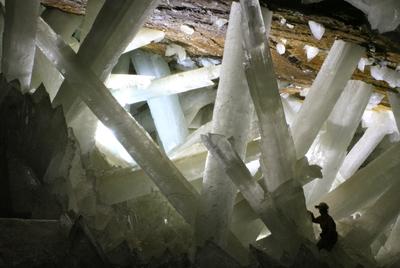 En la cueva de Naica