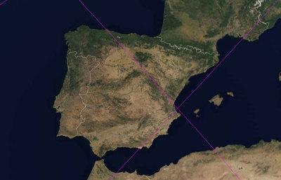 El paso del 'UARS' sobre España